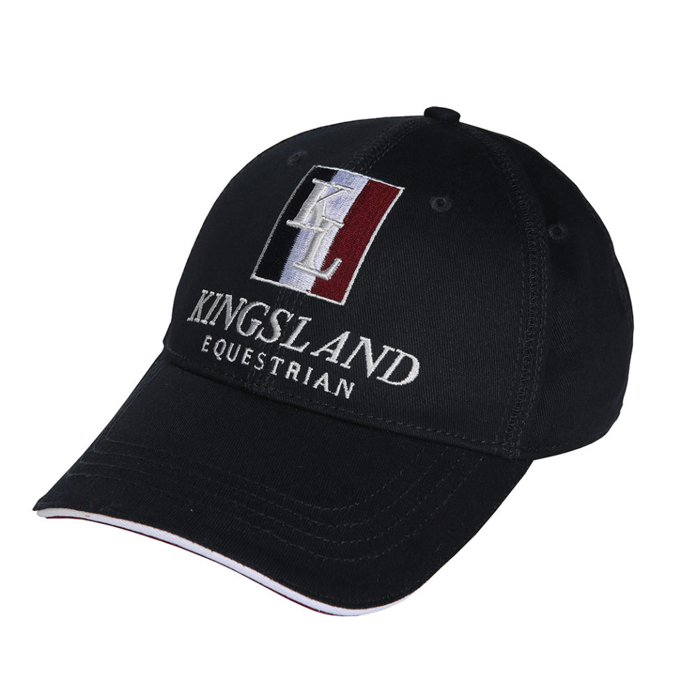 cappellino in cotone con logo, classic cap with logo, kingsland, abbigliamento cavaliere