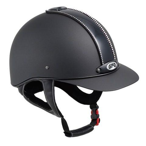 casco equitazione elegante classic crystal, gpa, swarovski, abbigliamento accessori cavaliere
