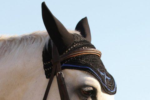 cuffia per cavalli crochet, horse bonnet, freejump