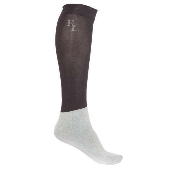 calze sottili nere per esibizioni, show socks black, kingsland, abbigliamento cavaliere