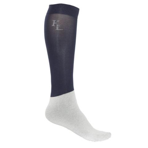 calze sottili navy per esibizioni, show socks navy, kingsland, abbigliamento cavaliere