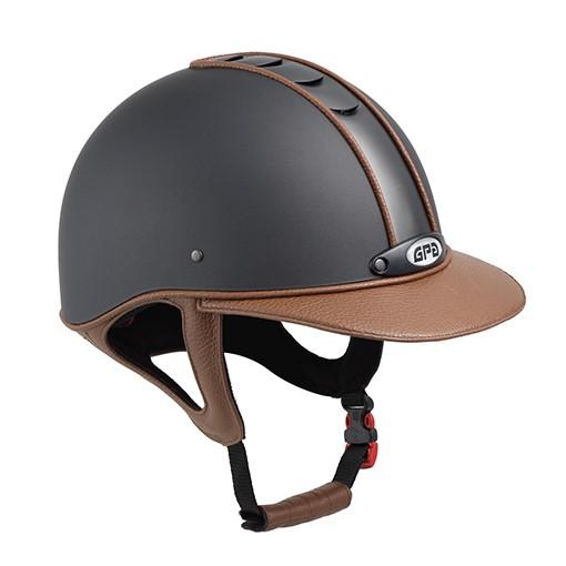 casco da equitazione elegante titium leather, gpa, abbigliamento accessori cavaliere