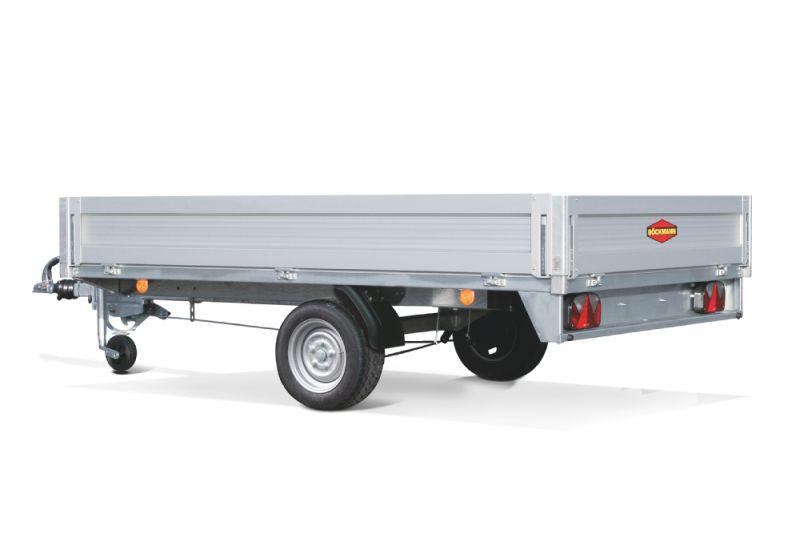 Carrello CH rialzato ad asse singolo trailer Boeckmann